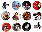MICHAEL JACKSON MJ (1) Awesome Quality Lot 12 New Pin Pinback Button Badge 1.25