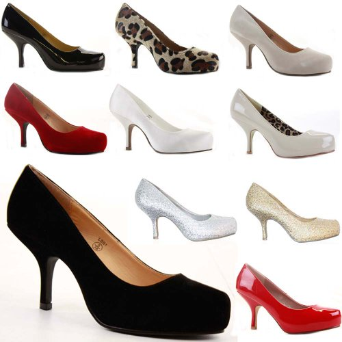 Womens Work Platform Wedding Court Shoes Pumps