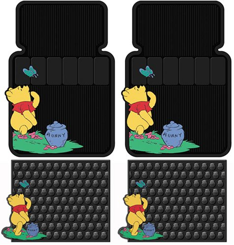 Winnie The Pooh 4 Pc Floor Mats Set (Pooh Car Mats compare prices)
