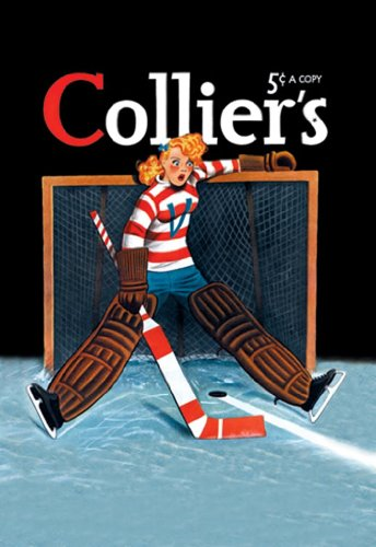Young Girl Goalie, By Colliers, 12X18 Poster, Heavy Stock Semi-Gloss Paper Print