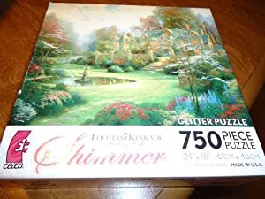 Ceaco Thomas Kinkade Painter of Light Shimmer Gardens Beyond Spring Gate Jigsaw Puzzle