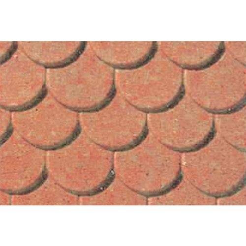 JTT Scenery Products Plastic Pattern Sheets: Scalloped Edge Tile, 5mm
