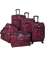 American Flyer Luggage Rose 5 Pieceset Spinner
