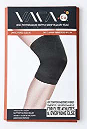 Copper Compression Knee Sleeve - Wear VARA Cu (Small) - Best Fit for Runners - Unparalleled Performance - Ditch Your Brace and Enjoy True Freedom - Pain Relief & Support - Get yours Right NOW Before We Run Out!