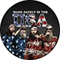 "Accuform Signs DDMFS132 Duck Dynasty Slip-Gard Adhesive Vinyl Round Floor Sign, Legend ""MADE SAFELY IN THE USA"", 17"" Diameter"