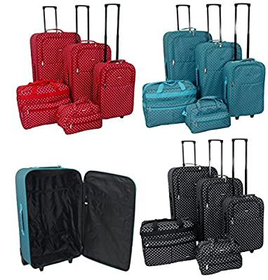 Super Lightweight 2 Wheel Suit Case Trolley Cases Luggage Cabin Holiday Set