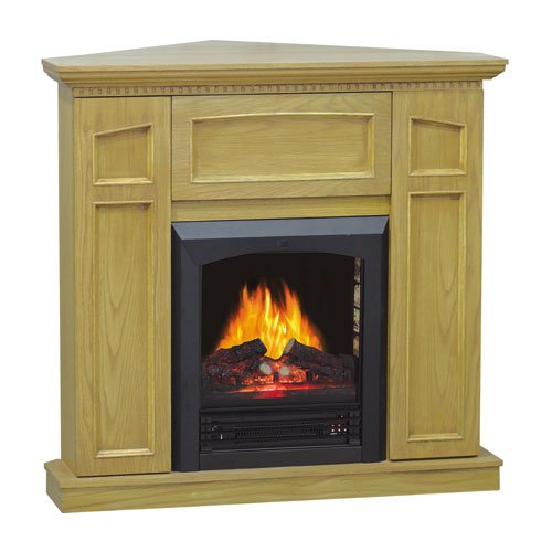 [Clearance] Flametec 769-40CGO 750-Watt / 1500Watt 3D Flame Electric Fireplace, Golden Oak photo B006HO7RNG.jpg