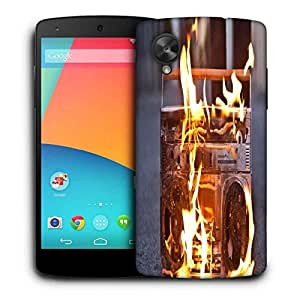 Snoogg Boombox In Fire Photography Printed Protective Phone Back Case Cover For LG Google Nexus 5
