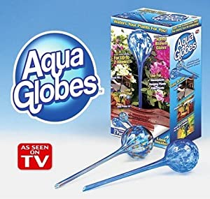 Aqua Globes Glass Plant Watering Bulbs - 2 Pack