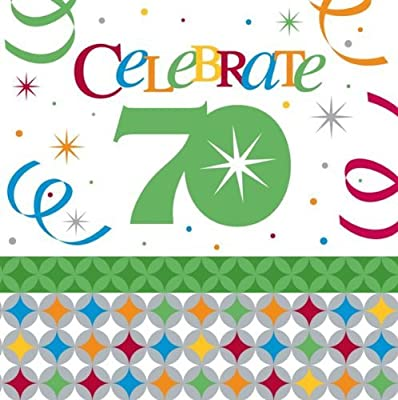 Celebrate in Style 70th Birthday 3-Ply Lunch Napkins 16 per Pack