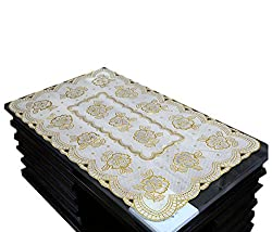 Kuber Industries Table Runner In Virgin Viny Soft Fabric Golden (24*40 Inches)