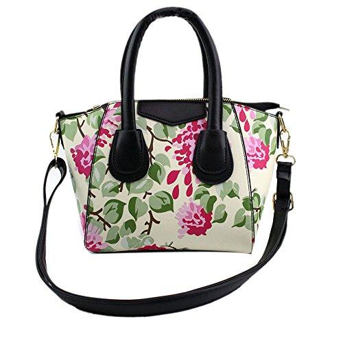 Longra Donne di moda borsa a tracolla stampa borsa (Beige)