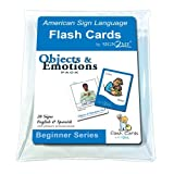 img - for ASL Flash Cards - Learn Signs for Objects & Emotions with Vinyl Storage Pouch - English, Spanish and American Sign Language (American Sign Language Flash Cards) (English and Spanish Edition) book / textbook / text book