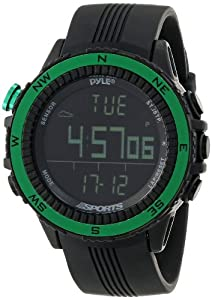 Pyle PSWWM82GN Digital Multifunction Sports Watch with Altimeter Barometer... by Pyle