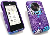EMARTBUY LG KU990/KU990i VIEWTY SILICON CASE/COVER/SKIN PURPLE DAISY