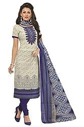 Gugaliya Women's 100 % Cotton UNSTICHED Salwar, Kameez & Dupatta Suit (SJ- 3119)