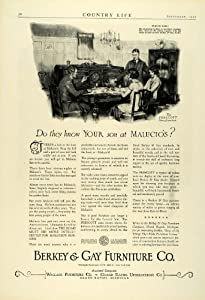 1925 Ad Berkey Gay Household Furniture Prescott Dining Room Set Malucio Pricing - Original Print Ad