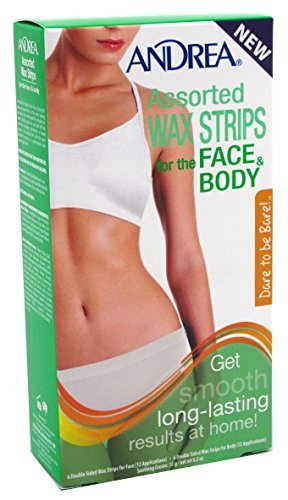 Andrea Assorted Wax Strips for the Face and Body, 10 Count by Andrea