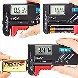 HDE Universal Digital Battery Tester - For AA/AAA/C/D/9V & Mini Cell Batteries
