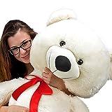 Nounours peluche ours géant XXL Teddy Bear 150cm (diag.) blanc