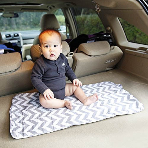 Luxury Travel Diaper Changing Mat | Shield Kids From Germs With This Waterproof, Portable, Compact Change Pad | Fits Baby, Infant & Toddler | Easy To Clean & Roll Up | Travel, Skip, Or Hop In Style