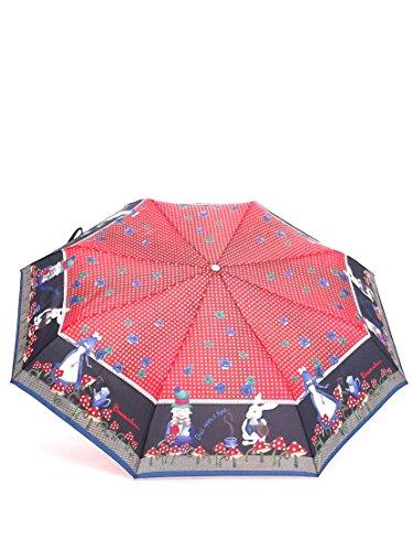 Braccialini ombrello donna, BC825 Once Upon a Time Alice, ombrello mini tre sezioni antivento, tessuto pongee, colore nero