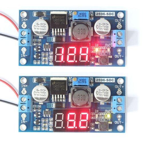 Riorand Rrlm2596 Adjustable 4.0-40V To 1.25-37V 5/12V Dc Voltage Regulator Experimental Power Buck Converter With Led Voltmeter