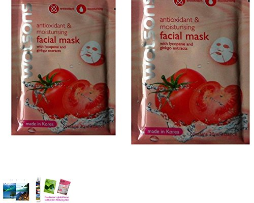 2 Packs Of Gift Set : Watsons Antioxidiant & Moisturising Facial Mask With...