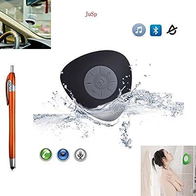 JuSp(TM), Triangle Mini Wireless Waterproof Bluetooth Shower Speaker Hands Free Speaker for iPhone /iPad / Cellphones