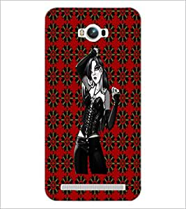 PrintDhaba Beautiful girl D-4063 Back Case Cover for ASUS ZENFONE MAX ZC550KL (2016) (Multi-Coloured)