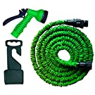 Premium No Kink, Tangle Garden Hose Pipe + Free Tap Hanger Expands to 50ft - Pro 7 Setting Sprayer + Stop Valve - Ultra Reliable 2nd Generation Expandable WonderHose(TM) from Pampered Garden(TM) - Don't Accept Inferior Imitations - 100% Guaranteed!