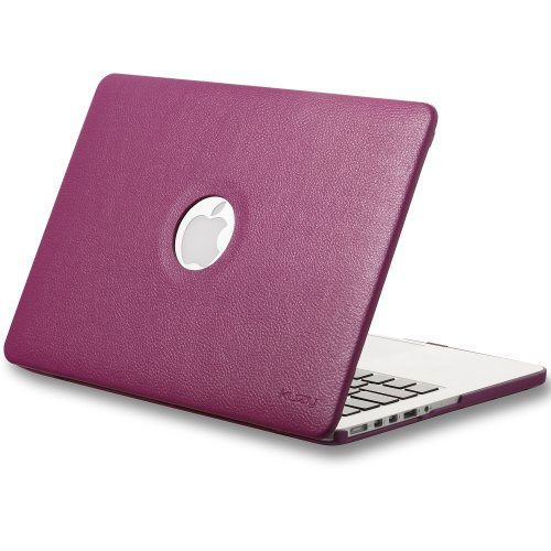 =>>  Kuzy - Retina 13-Inch MAGENTA LEATHER Hard Case for MacBook Pro 13.3