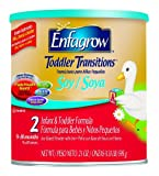 Enfagrow Enfagrow Toddler Transitions, Soy-Based Powder with Iron, 21 Ounce Cans (Pack of 4)