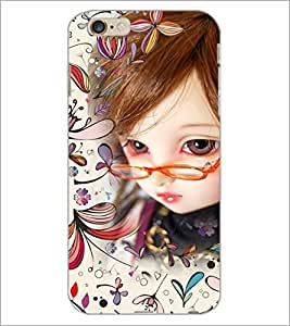 PrintDhaba Girl with Spectacles D-4161 Back Case Cover for APPLE IPHONE 6 (Multi-Coloured)