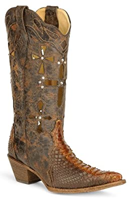 Womens Cut Out Cross Corral Boots (6)