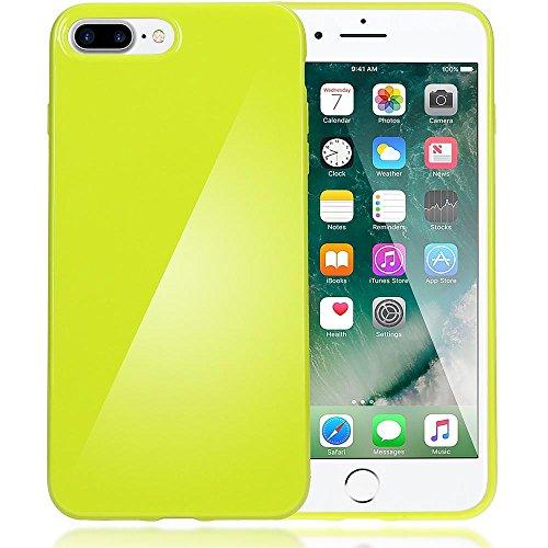 delightable24 Protezione Cover Case in Silicone TPU Jelly per Smartphone APPLE IPHONE 7 PLUS - Neon Verde Chiaro