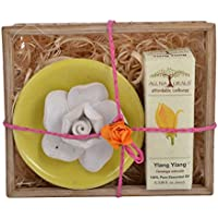 All Naturals No-flame Aroma Diffuser Gift Set With Ylang Ylang Essential Oil - 10ml