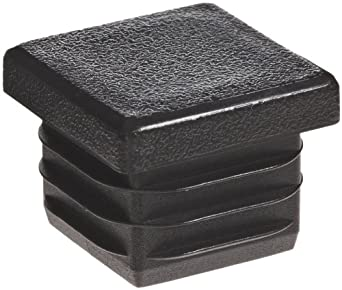 Kapsto 260 Q 2525 1.5 - 2 Polyethylene Square Plug, Black, 25 mm (Pack of 100)
