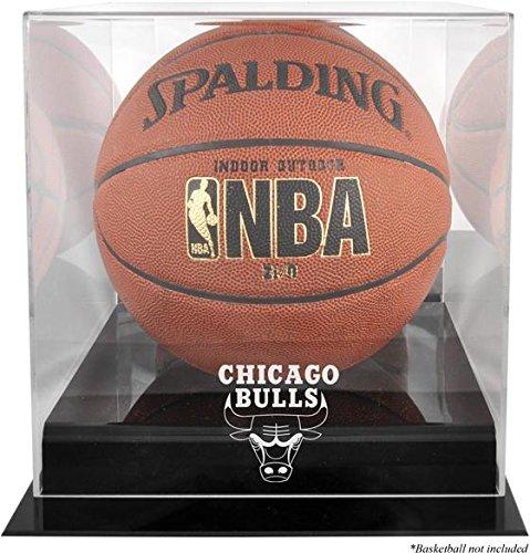 Mounted Memories MM-DISPK2BULL Chicago Bulls Black Base Logo Basketball Display Case with Mirror Back (Chicago Bulls Display Case compare prices)