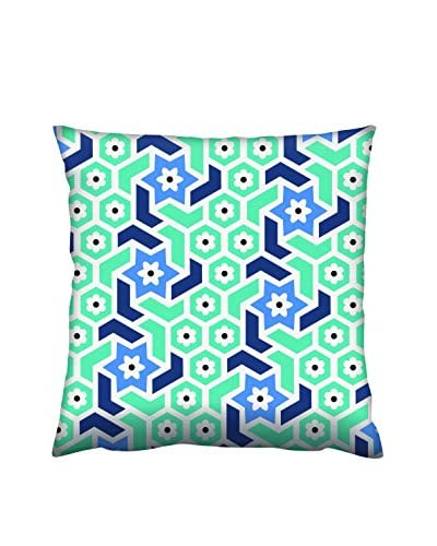 Gravel Abstract Star Print Throw Pillow, Sea/Periwinkle