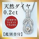 【鑑別付】0.2ct 天然ダイヤモンド ラッキーシューペンダント 馬蹄 ネックレス