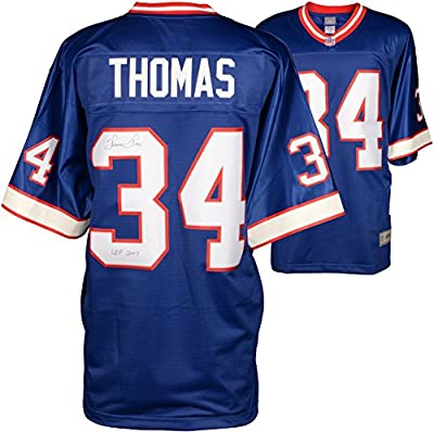 Thurman Thomas Buffalo Bills Autographed Pro Line Blue Jersey with HOF 2007 Inscription - Fanatics Authentic Certified