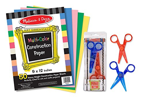 Maven Gifts: Melissa and Doug 9 X 12-Inch Multi-Color Construction Paper with Child Scissors - 1