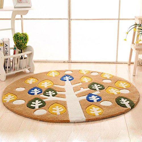 GUO-tappeto Cartoon spessi materassini camera da letto comodino rotondo carpets100 * 100cm