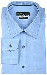 SWATHE Men's Formal Shirt (5975-1-38, Blue)