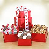 Chocolates, Cookies and Sweets Valentines Gift Tower