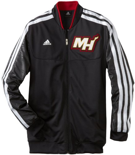 NBA Miami Heat On-Court Warm-Up Jacket Home Weekday, X-Large, Black