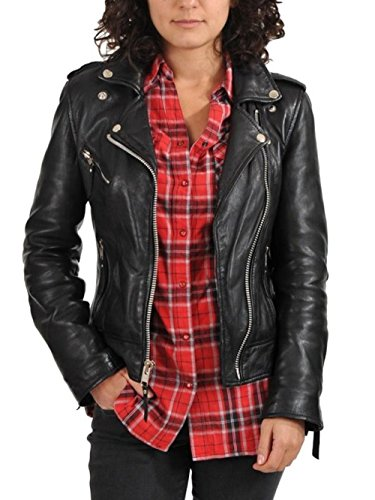 World Of Leather Women's Biker Moto Leather Jacket (XL)