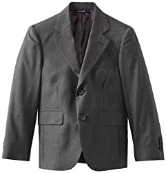 Brooks Brothers Big Boys' Two Button Suit Jacket Junior, Light Grey, 10
