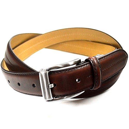 (オルダニ) Oldani レザー 紳士 本革 ベルト メンズ ビジネスベルト 110cm サイズ 調整 可能 デザイン ブラック チョコ 牛革 ロングサイズ